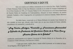 Auténtica Pedro San José de Betancur