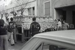 Ensayo con el paso antiguo del Stmo. Cristo, 1975