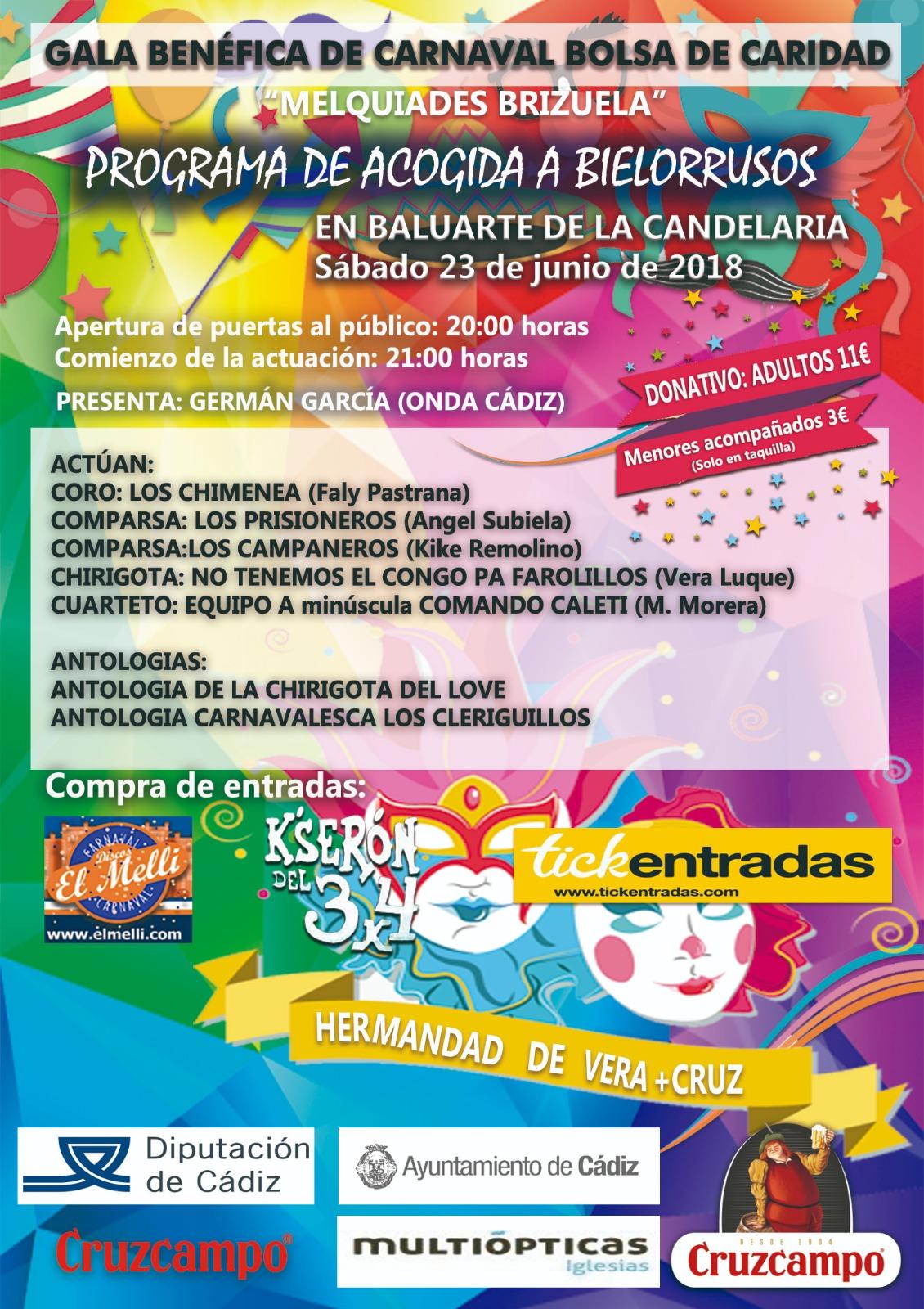 Gala Benéfica de Carnaval. 23 de junio
