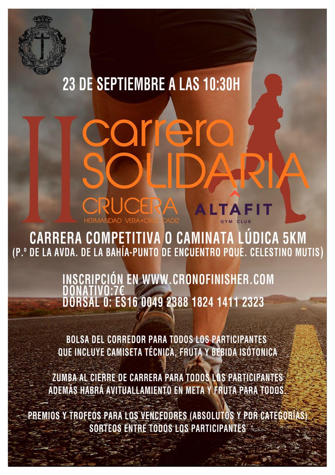 """II Carrera Solidaria """"Crucera Altafit""""-Fecha: 23 de septiembre 2018"""